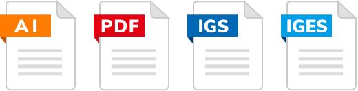 AI,PDF,IGS,IGES